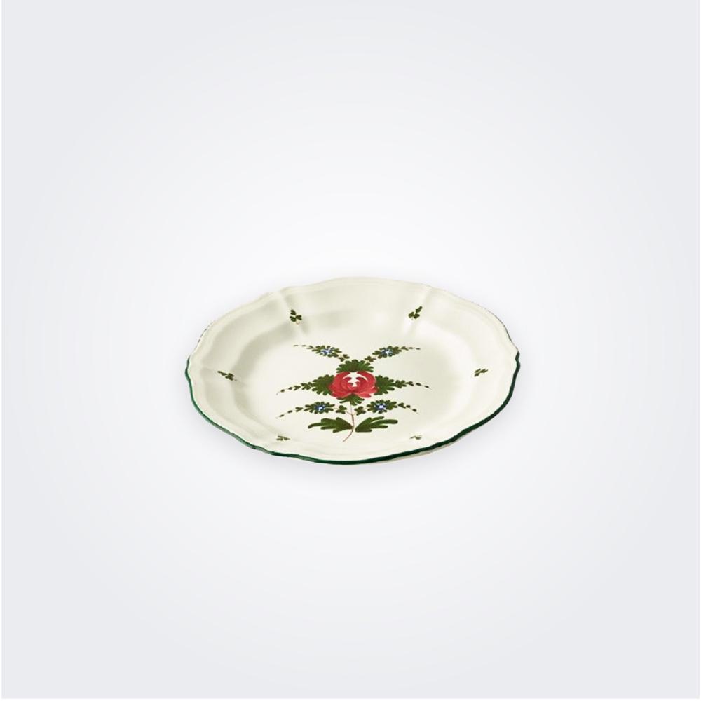 White italian pottery plate set