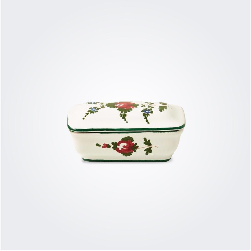 White italian pottery soap holder
