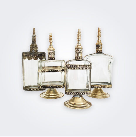 Clear Perfume Bottle Set