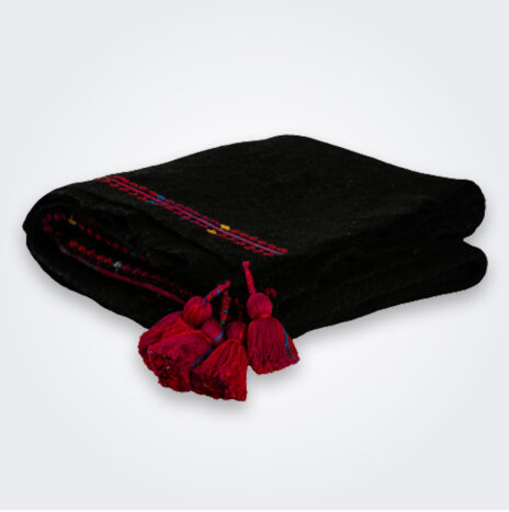 Black Wool Throw