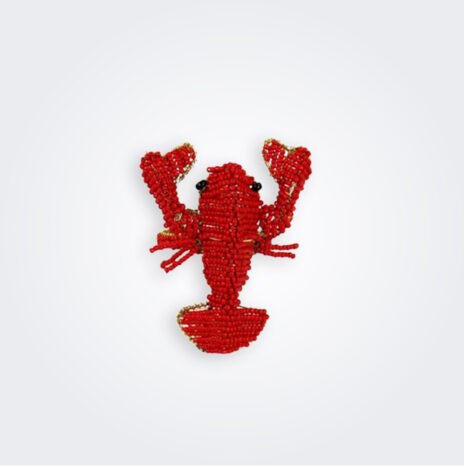 Beaded Lobster Napkin Ring Set