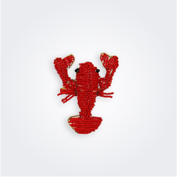 Beaded lobster napkin ring product picture.