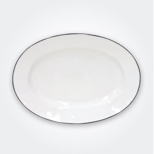 Beja stoneware oval platter product picture.