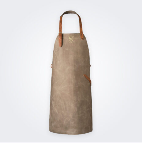Vintage Gray Leather Apron