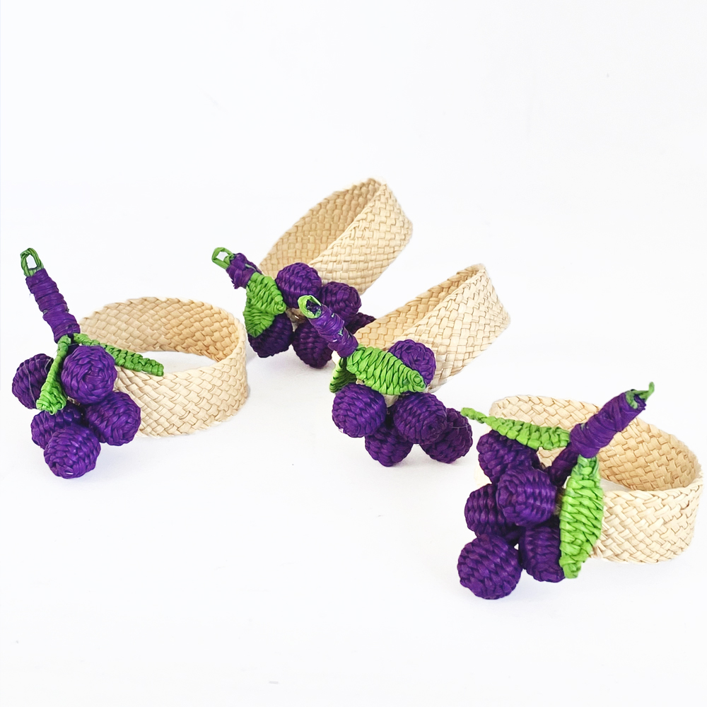Grape napkin ring 3