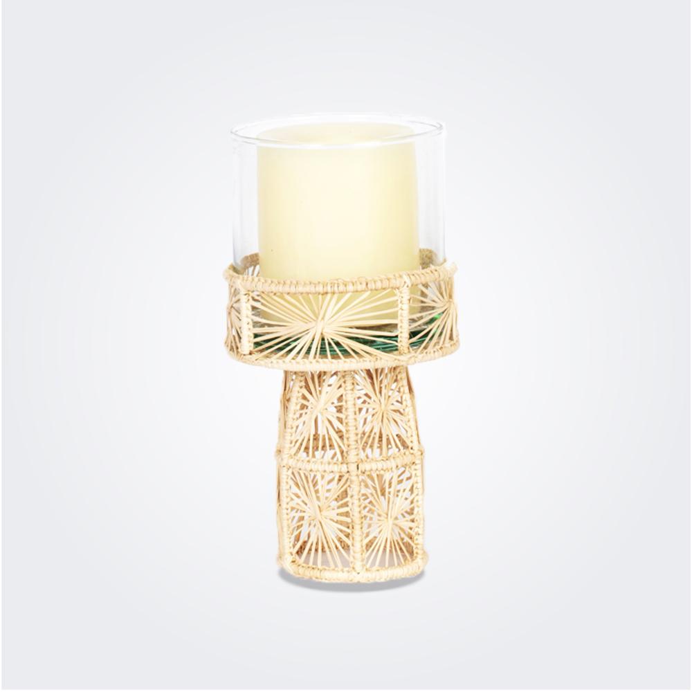 Medium palm candleholder 1