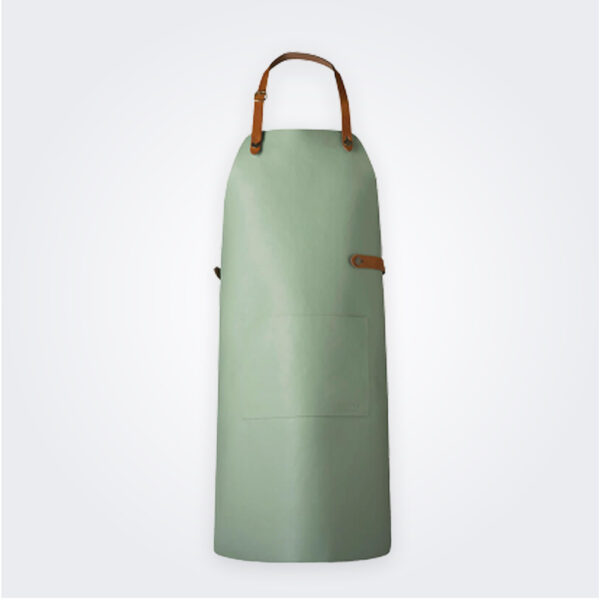 Mint leather apron product photo.