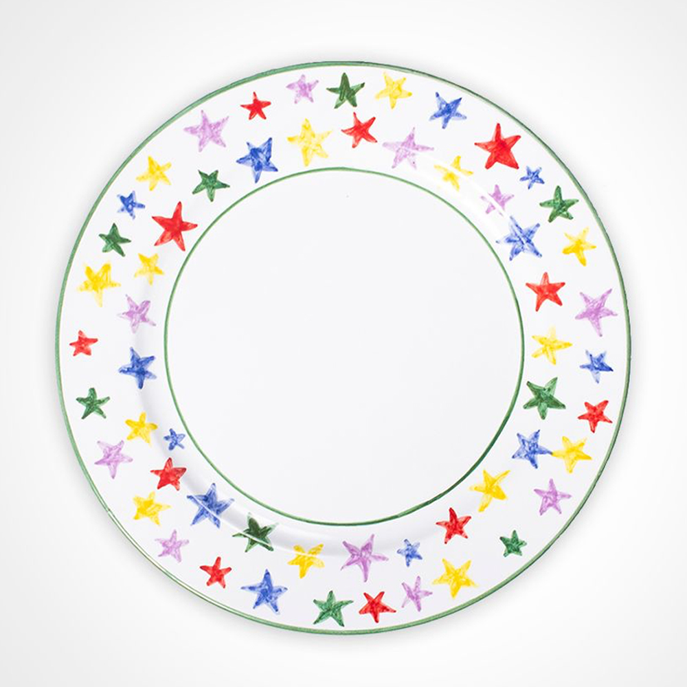 Multicolor stary charger plate