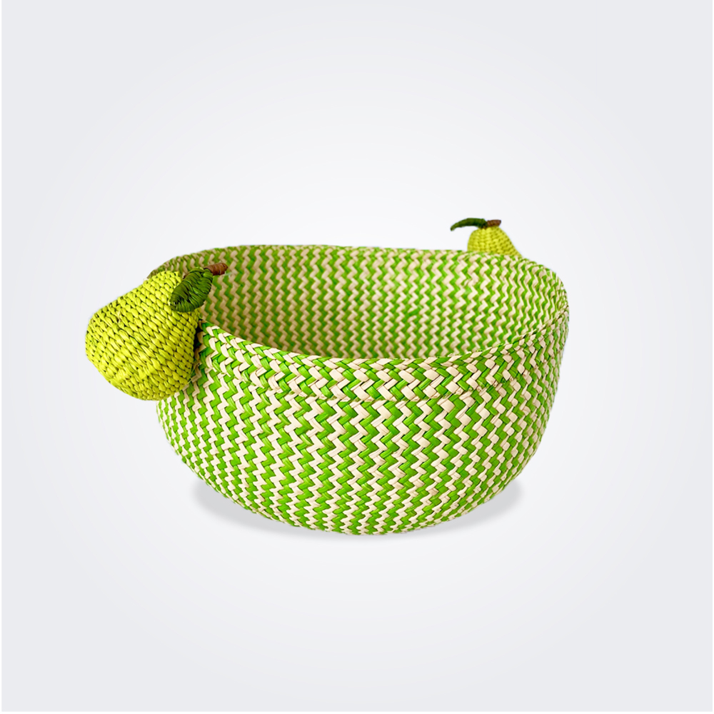 Palm basket with pear handles 1