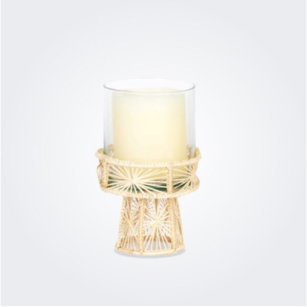 Small palm candle holder product picture.