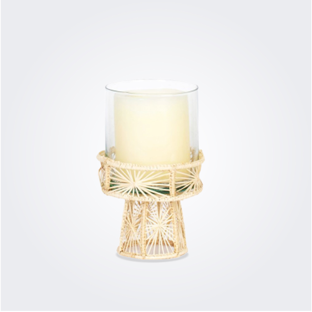 Small palm candleholder 1