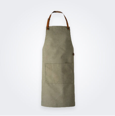 Washed Canvas Apron Green