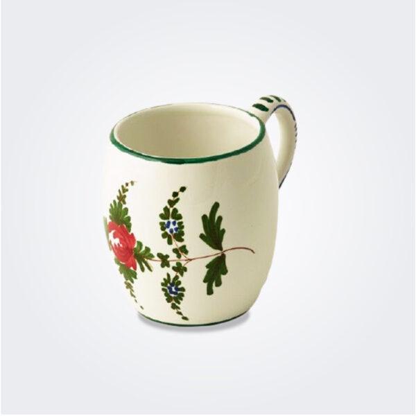 White Italian pottery mug set product picture.