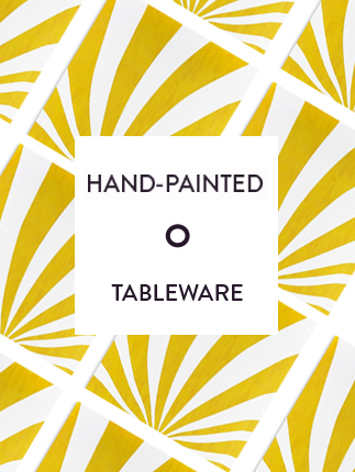 Hand painted tableware selection from UK.