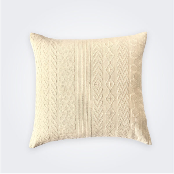 Beige guatemalan pillow cover product picture.