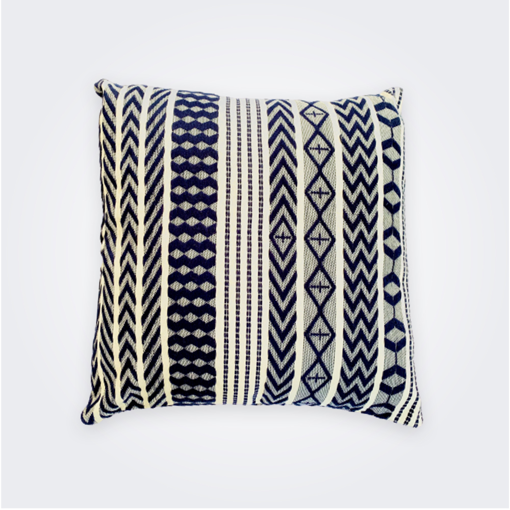 Blue Guatemalan Pillow Cover 4