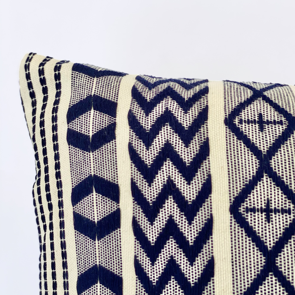 Blue Guatemalan Pillow Cover 5