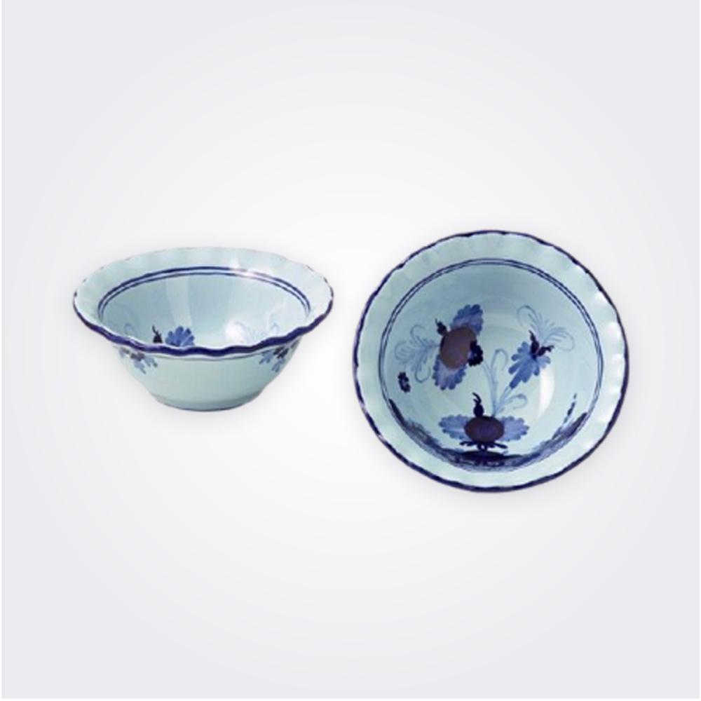 Small-blue-majolica-bowl-set