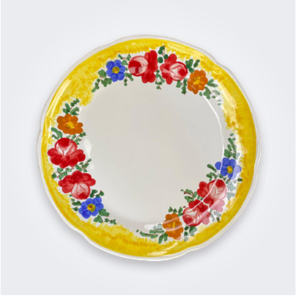 Floral dinner plate set product picture.