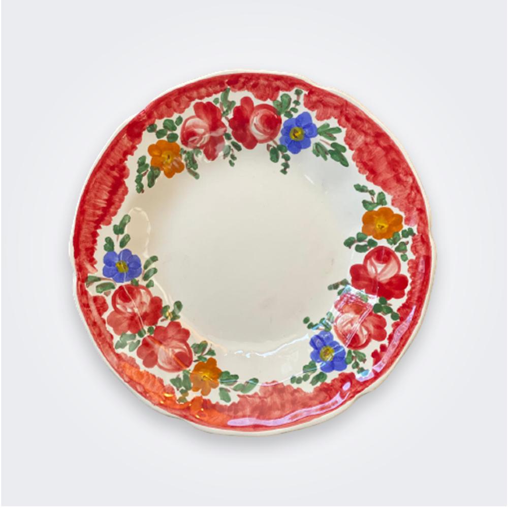 Floral-pasta-plate-set
