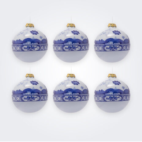 Blue Ball Christmas Bauble Set