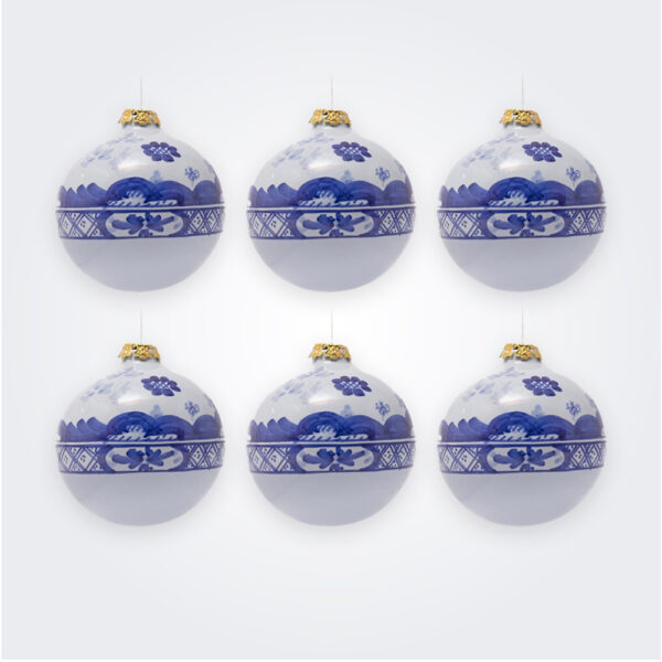 Blue ball christmas bauble set product picture.