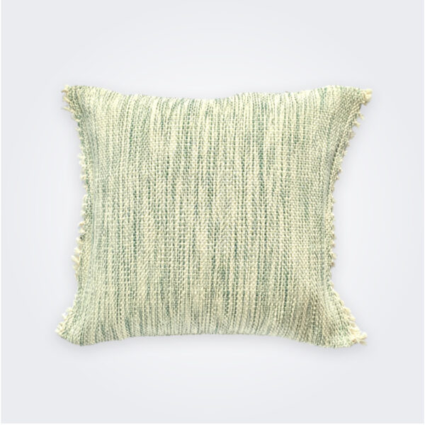 Green serenity pillow cover product picture.