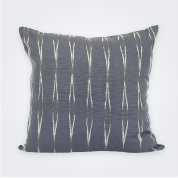 Gray reversible pillow cover product picture.