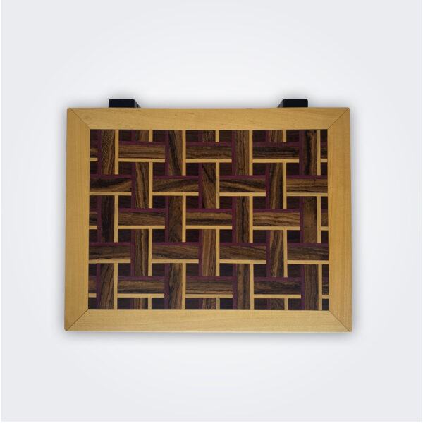 Light wood tea chest product picture flat lay.