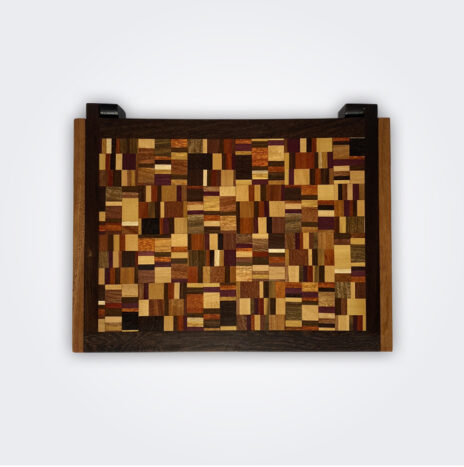 Weaved Pattern Wooden Box