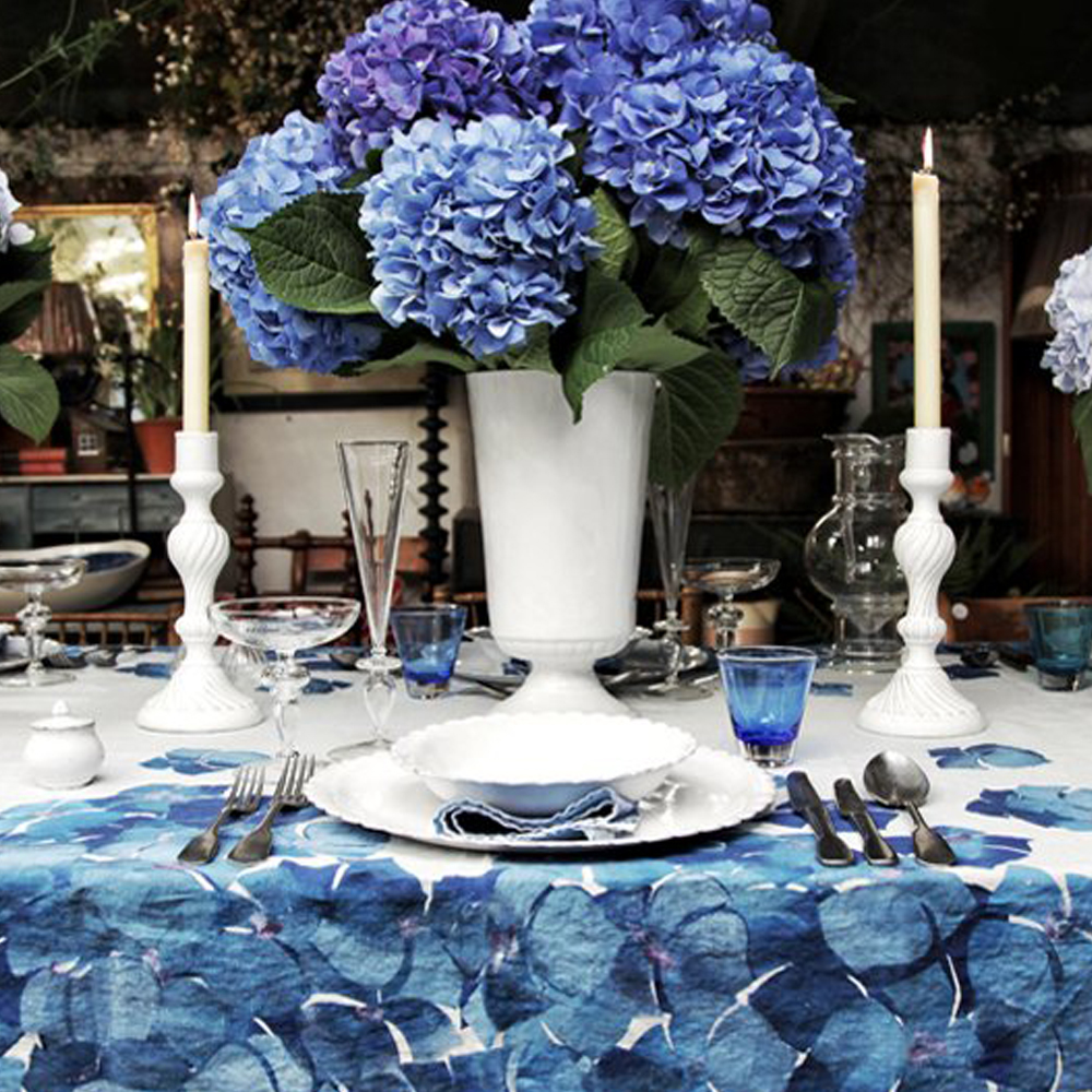 Large Hydrangea Flower Tablecloth 3