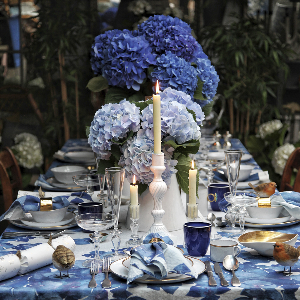 Large Hydrangea Flower Tablecloth 4