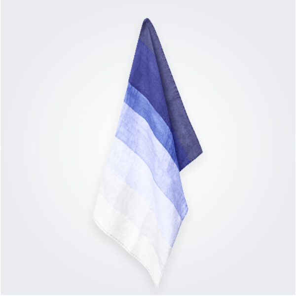 Shades of Blue Striped Linen Napkin product image