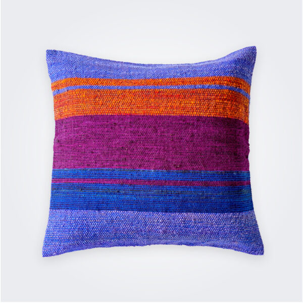 purple square pillow cover product picture.