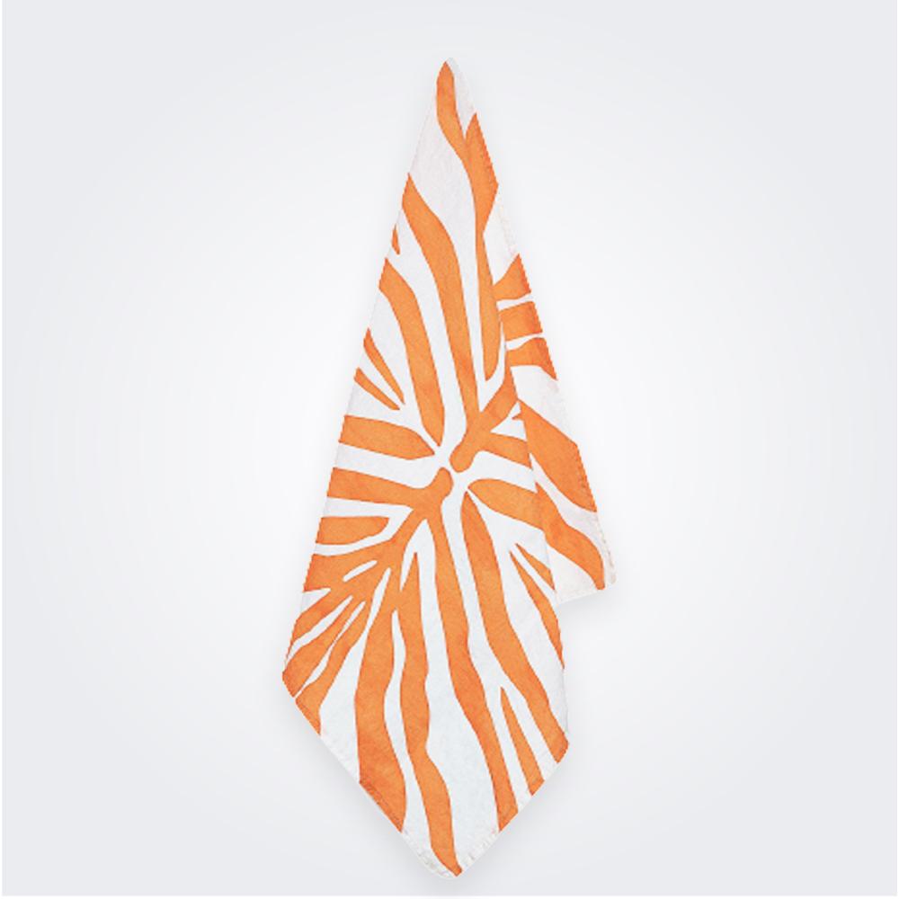 Tangerine-Zebra-Linen-Napkin-1