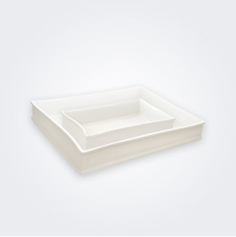 White Stoneware Baking Pan Set