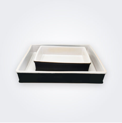 Black Stoneware Baking Dish Set