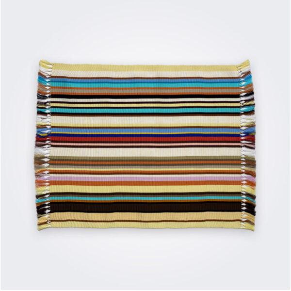 Beige pima cotton placemat set product picture.