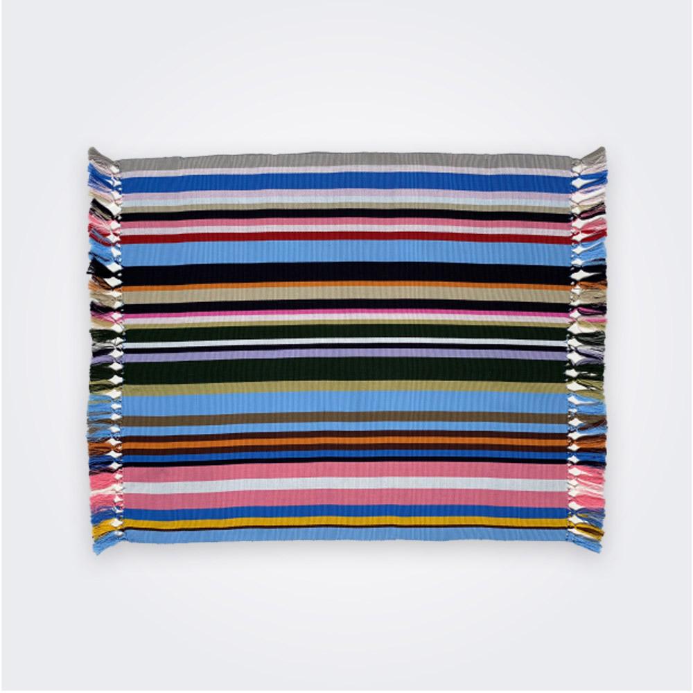 Blue pima cotton placemat set 1