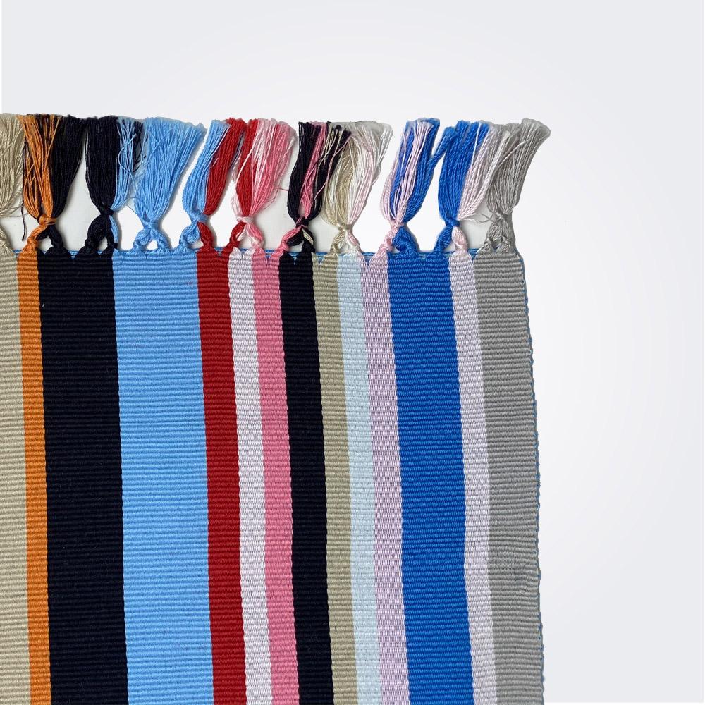 Blue pima cotton placemat set 2