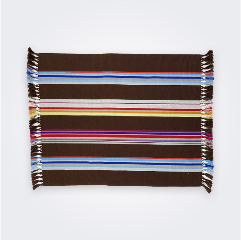 Brown pima cotton placemat set 1