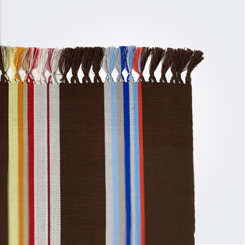 Brown pima cotton placemat set 2