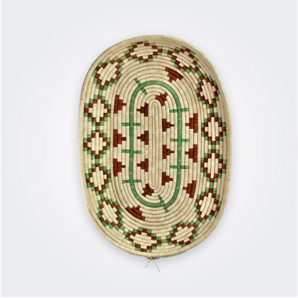 Oval ethnic tray product picture.