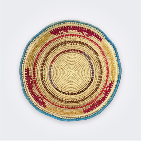 Circular ethnic tray product picture.