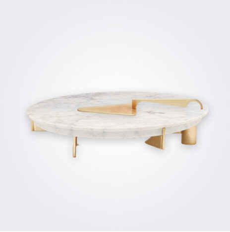 Marble Cake Stand & Knife Set