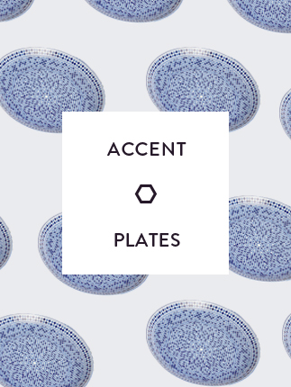 Accent plates from all over the world.