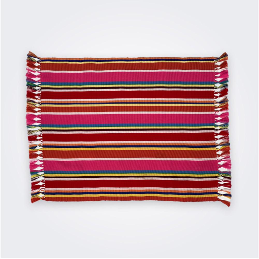 Red pima cotton placemat set 1