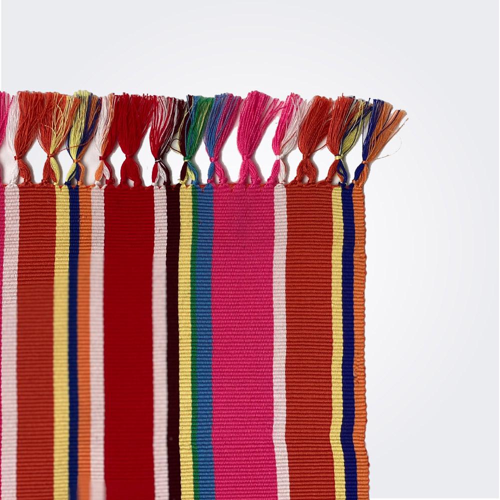 Red pima cotton placemat set 2