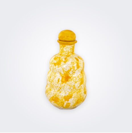 Yellow Ceramic Oil Bottle