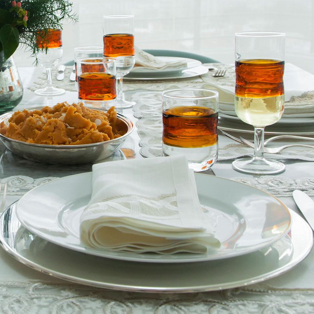 Amber Water Glass Set